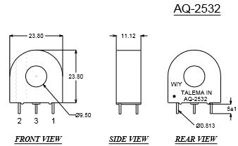 AQ-2532-Dimensions