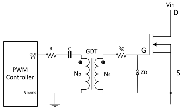Transformer Isolated Gate Drive Circuit Diagram