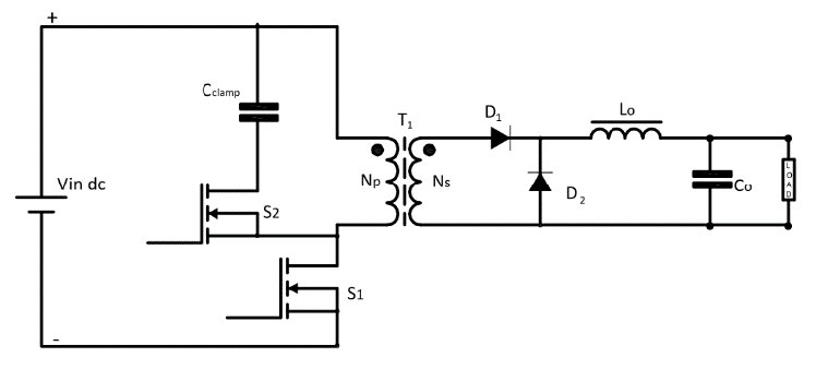 SMPS: Asymmetrical Isolated Converters Forward Converter Active clamp Circuit Diagram