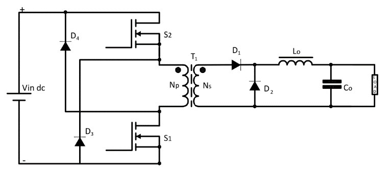 SMPS: Asymmetrical Isolated ConvertersForward Converter Two switch circuit diagram