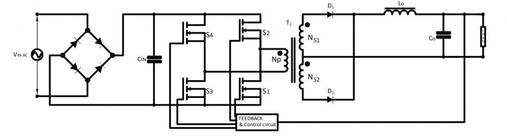 Symmetrical Isolated Converters Full Bridge Converter Circuit Diagram