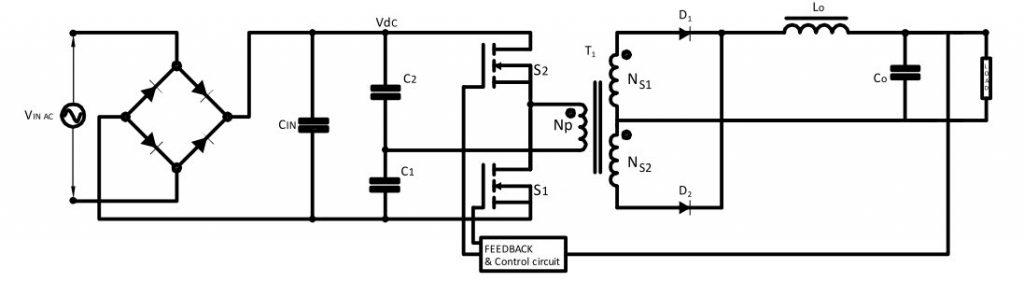 Symmetrical Isolated Converters Half-Bridge Converter Circuit Diagram