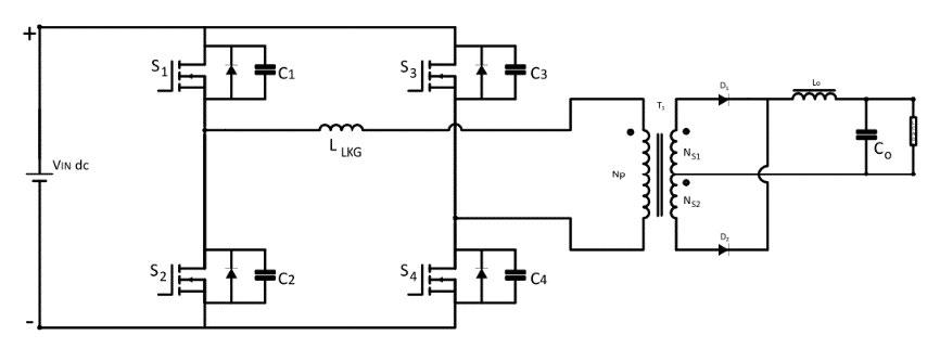Phase Shifted Full-Bridge Converter Circuit Diagram