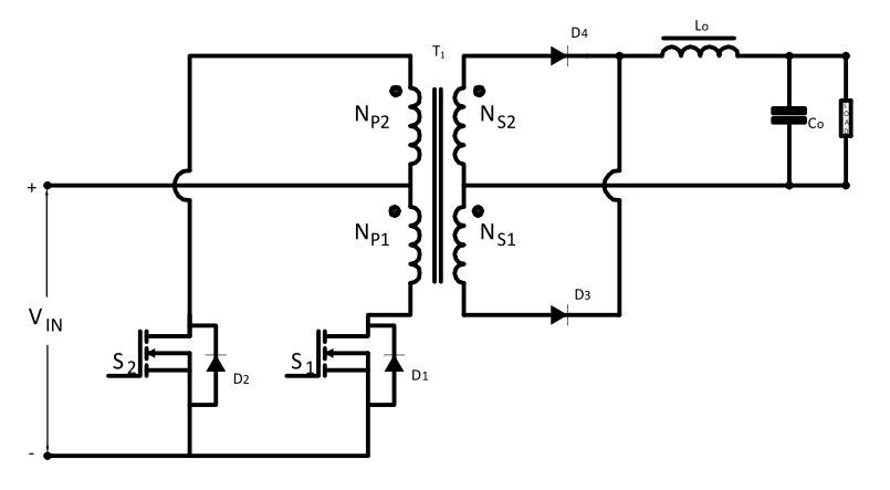 Symmetrical Isolated Converters Push-Pull Converter Circuit Diagram