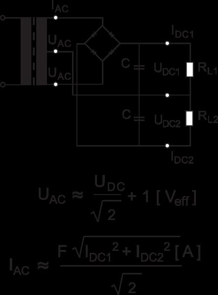 Center-Tapped-Bridge-Formulae