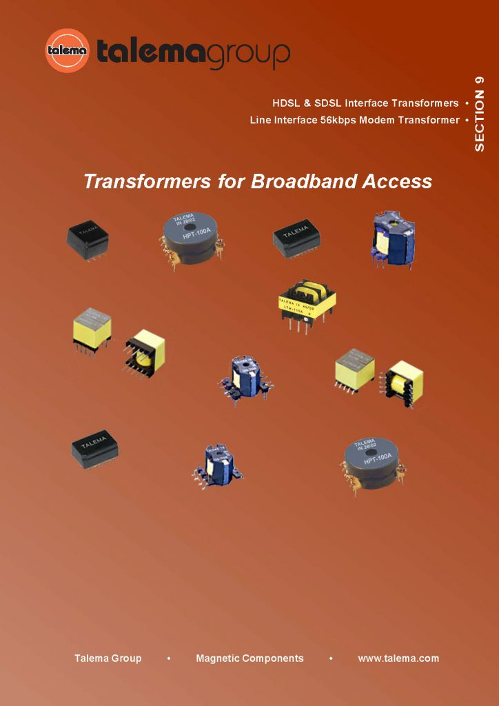 Transformers for Broadband Access Catalog