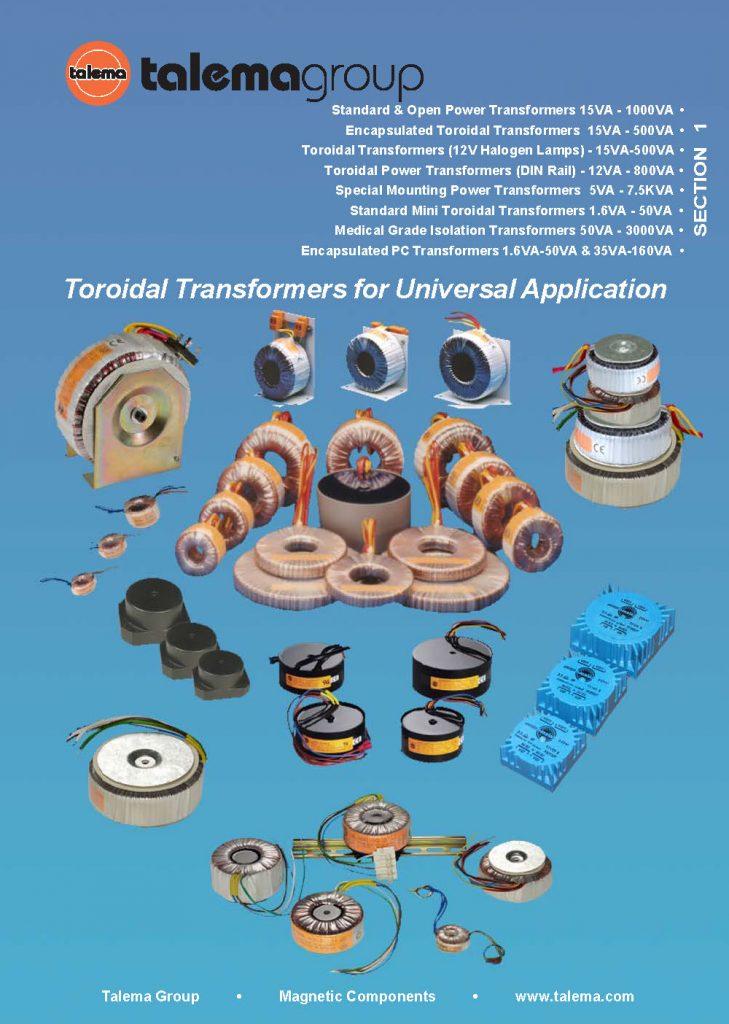 Catalogo trasformatori toroidali