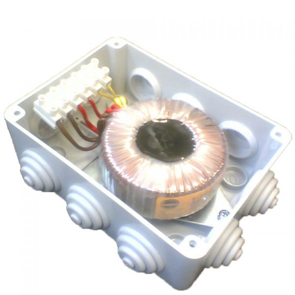 custom-designed-toroidal-transformer-in-IP-rated-housing-with-terminal-block