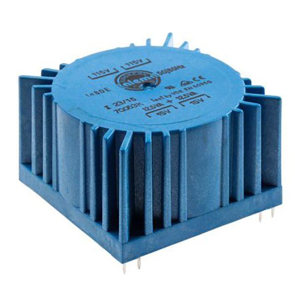 Low Profile PCB Mounting Transformer 125VA, part number 70063K