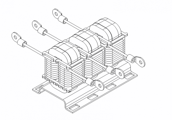 power-converter-wireframe-3-phase-inductor