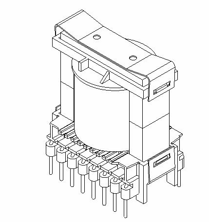 power-converter-wireframe-half-transformer