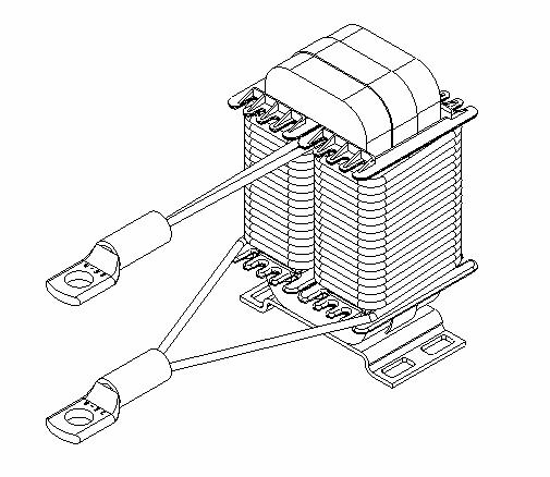 power-converter-wireframe-inverter-choke